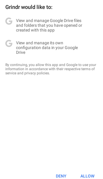 grindr android backup