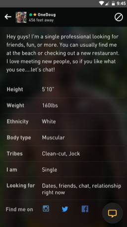 New Grindr Account